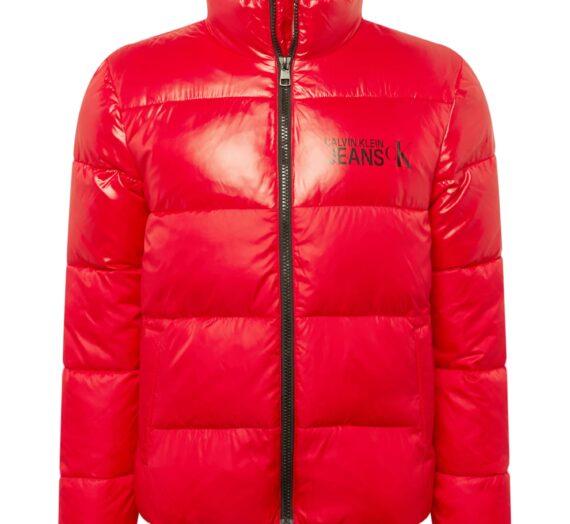 Calvin Klein Jeans Зимно яке  червено / черно 47245297