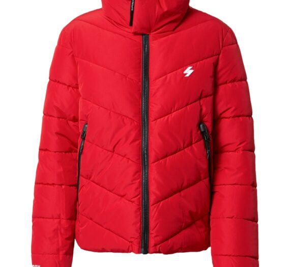 Superdry Зимно яке  червено / черно / мръсно бяло 47308621