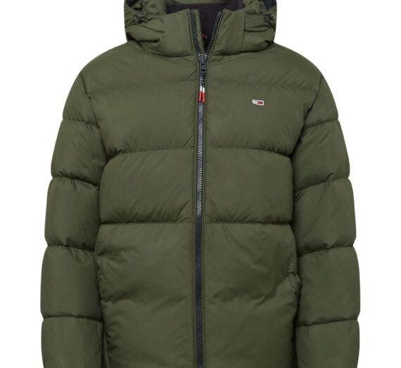 Tommy Jeans Зимно яке  маслина / бяло / огнено червено / нейви синьо 47485081