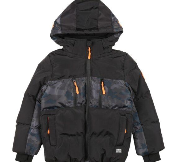 Cars Jeans Зимно яке 'FRASH'  черно / петрол / камък / опушено синьо / светлосиво / неоново оранжево 47499053