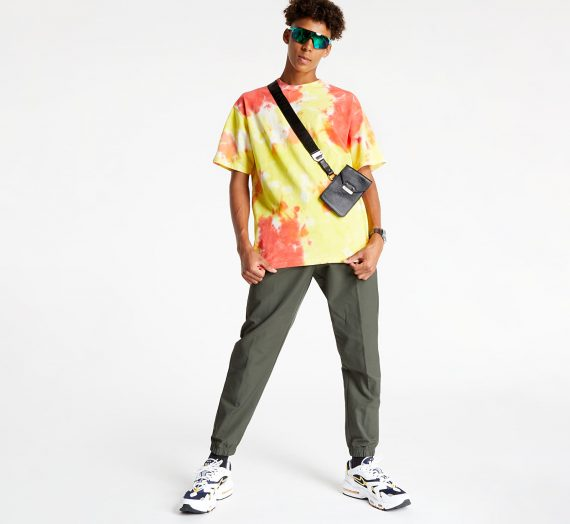 Тениски Nike Sportswear Premium Essentials Men's Tie-Dye T-Shirt White/ Yellow Strike/ Total Orange/ White 808420