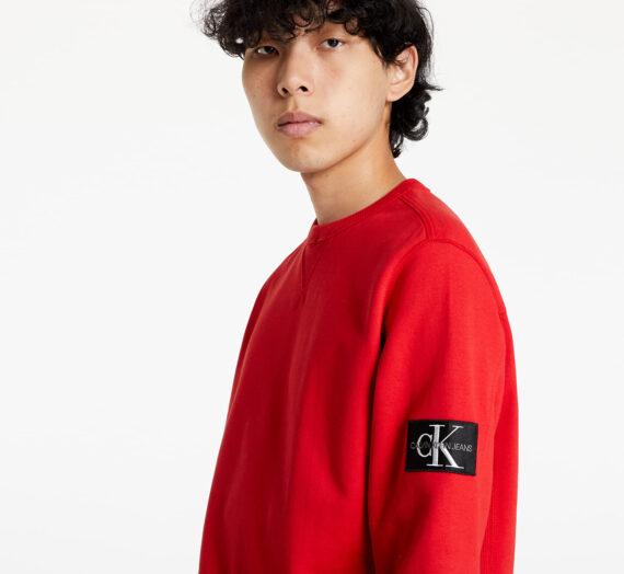 Суичъри без качулка Calvin Klein Jeans Monogram Sleeve Badge Cn Salsa 976396